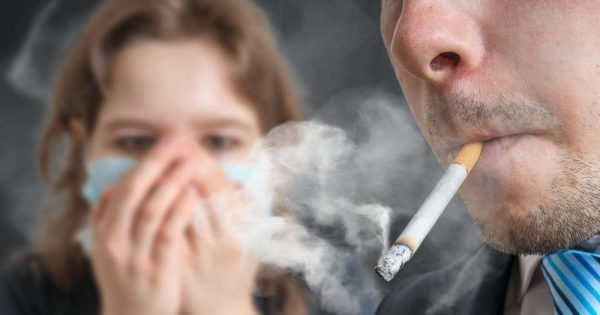 signs of acute poisoning by nicotine from Smoking a cigarette