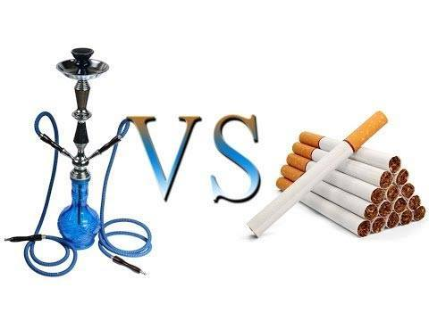 What is more harmful Smoking cigarettes or hookah