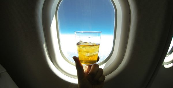 alcohol in the plane