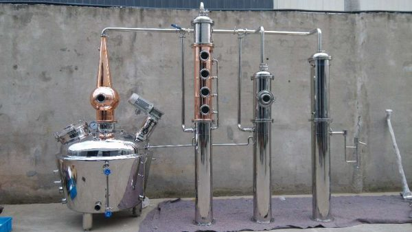 the distillation process