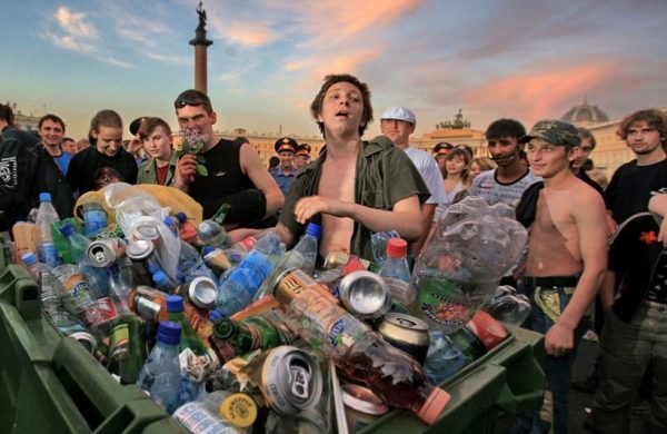 The degradation of alcohol