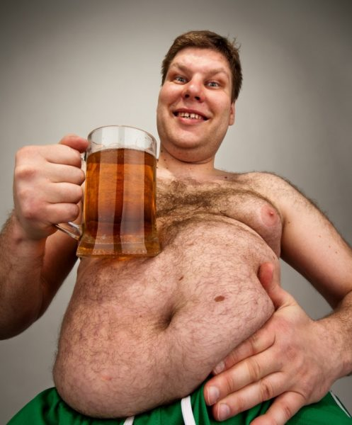 Beer belly - it's horrible and disgusting!