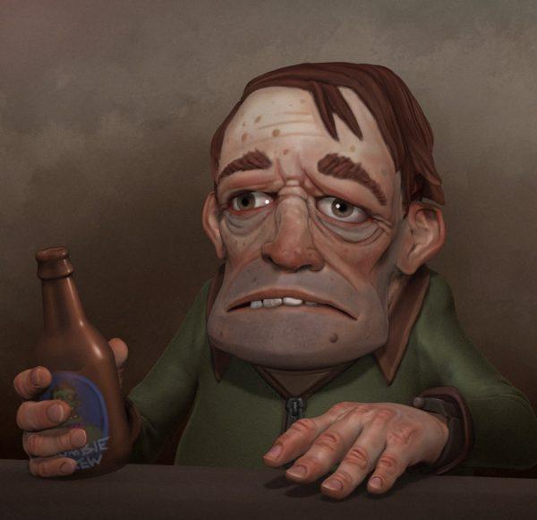 Алкоголік - це людина, який виглядає неприємно і відштовхує навіть рідних людей.