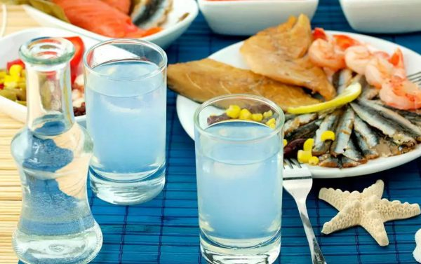 Greek vodka with anise