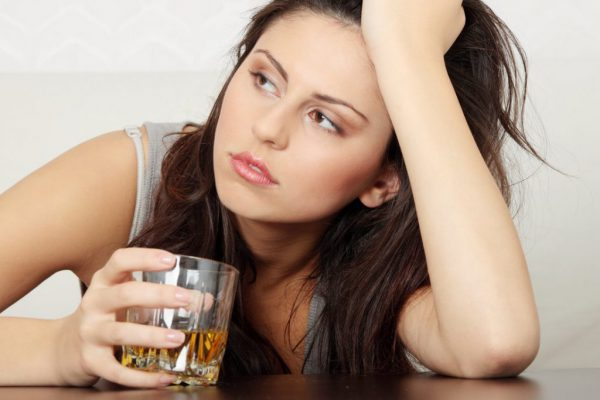 The effect of alcohol on a person's memory