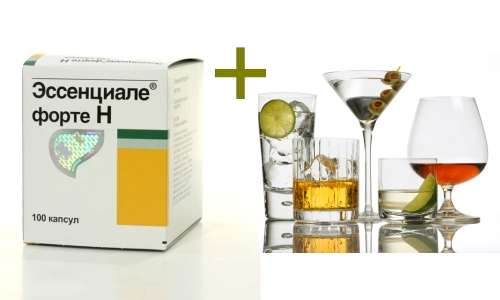 Essentiale Forte and alcohol