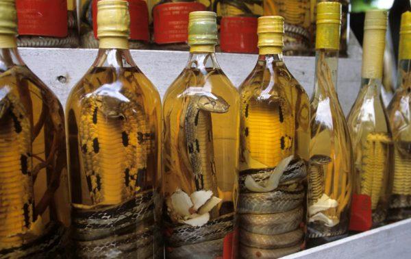 водка со змеей из Китая